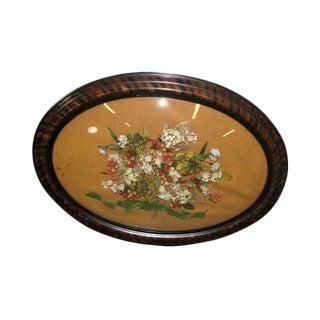 Oval Framed Floral Arrangement Hanging Picture