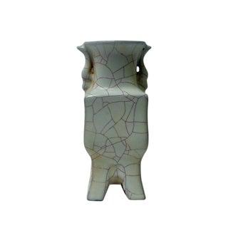 Chinese Celadon Crackle Ceramic Vase