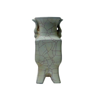Chinese Celadon Crackle Ceramic Vase