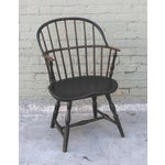 Image of 18th Century Original Green Extended-Arm Windsor Chair