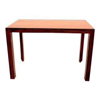 Mid Century Danish Modern Solid Rosewood & Mahogany Side Table