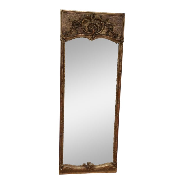 Antique French Giltwood Mirror - Image 1 of 8