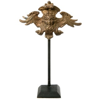 Brass Wing Ornament on Stand