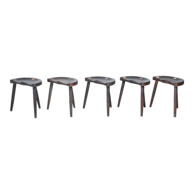 Robert Roakes Handcrafted Tripod Studio Stools, USA, 1970s - Image 1 of 7