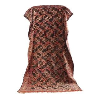 "Vintage Bukhara Hand Knotted Carpet - 4'7"" x 8'9"""