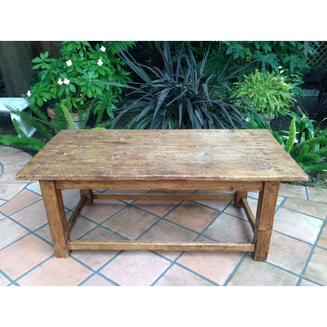 French Antique Pine Coffee Table - Image 2 of 5