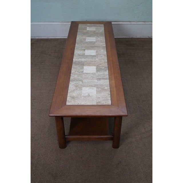 Mid Century Modern Long Walnut Coffee Table - Image 3 of 10