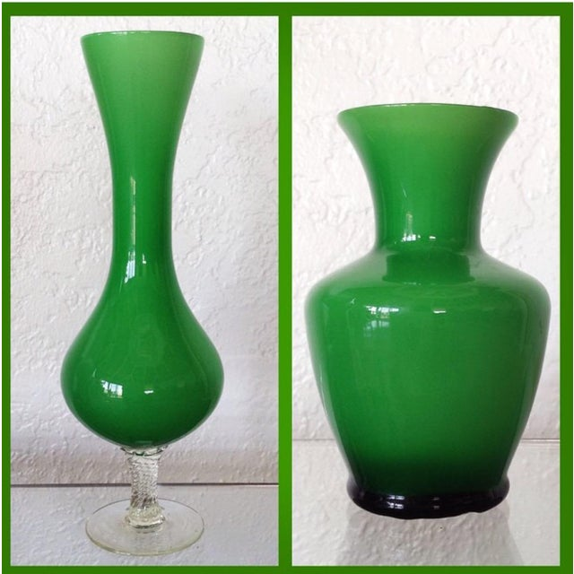 Kelly Green Empoli Vases - Set of 4 - Image 4 of 5