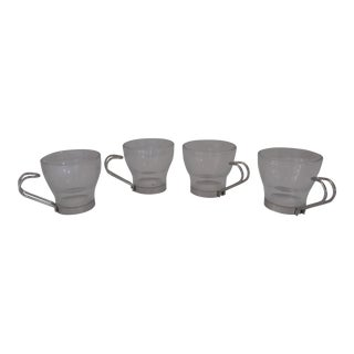 Italian Glass Espresso Cups- 4 Pieces