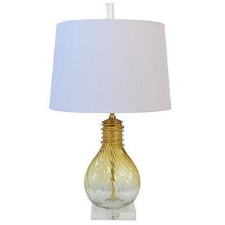 Venetian Gold Murano Glass Table Lamp