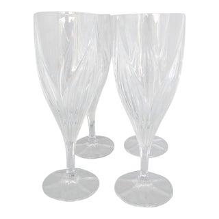 Tulip-Shape Crystal Red Wine Goblets - Set of 4