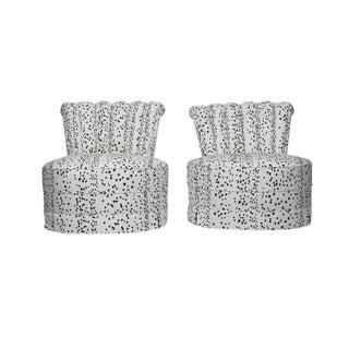 Dalmatian Spot Printed Slipper Chairs- A Pair
