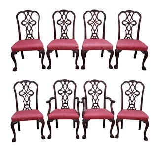Wellington Hall Mahogany Chippendale Chairs - S/8