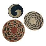 Vintage Tribal Colorful Round Baskets/Bowls - Set of 3