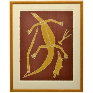 Aboriginal Lizard Screen Print