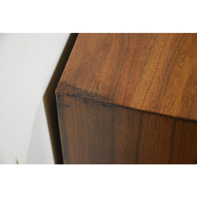 Mid-Century Brutalist Walnut Nightstands - A Pair - Image 9 of 11