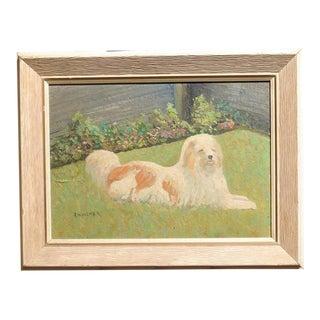 English Dog Impressionist Painting