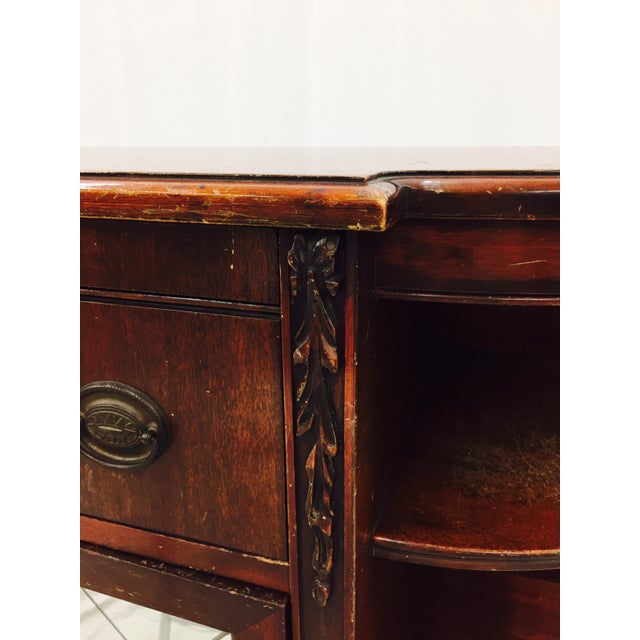 Vintage Mahogany Mirrored Console Chest - Image 9 of 11