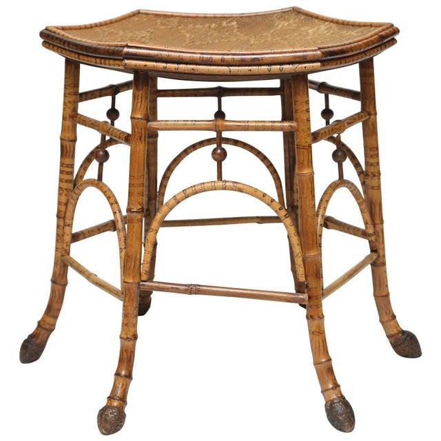 Rattan and bamboo stool chairish