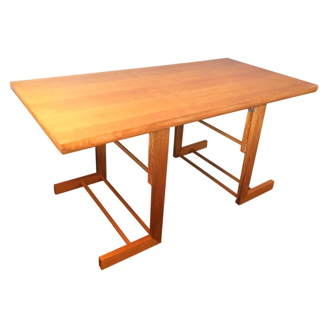 Mid-Century Camel Conversion Dining Table - Image 1 of 5