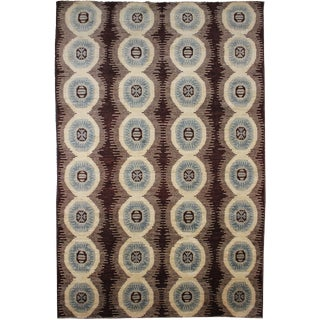 "Aara Rugs Inc. Hand Knotted Ikat Rug - 10'2"" X 14'7"""