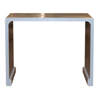 Gray Waterfall Console Table