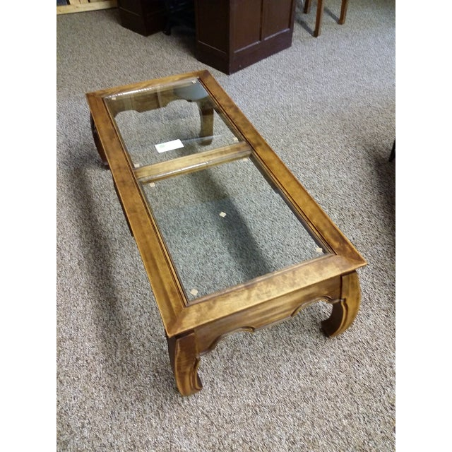 Mid-Century Chinese Classic Wood Coffee Table - Image 2 of 7