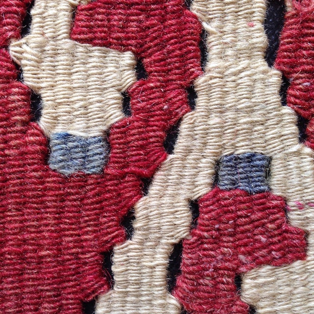 Vintage Red & Brown Kilim Pillow - Image 4 of 5