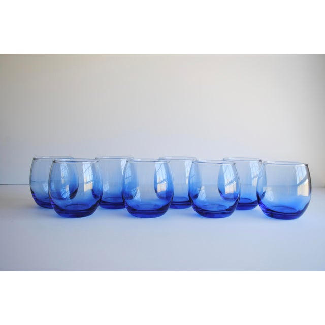 Blue Roly Poly Glasses, Set of 8 - Image 4 of 5