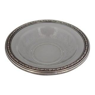 Elegant Cut Glass & Sterling Bowl