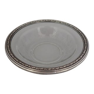 Elegant Cut Glass & Sterling Bowl