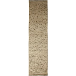 "Moroccan, Hand Knotted Runner Rug - 2' 10"" x 12' 0"""