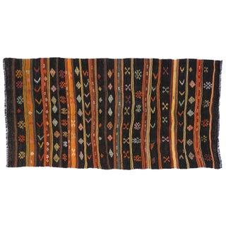 Turkish Tribal Design Kilim - 6′5″ × 12′