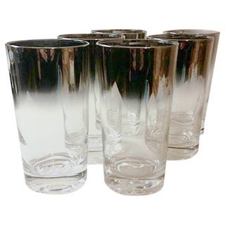 Dorothy Thorpe Silver-Edged Glasses - Set of 6
