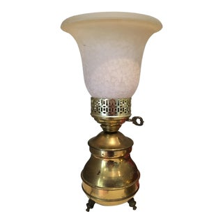 Vintage Brass Torch Table Lamp