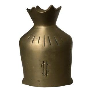 Vintage Solid Brass Money Bag