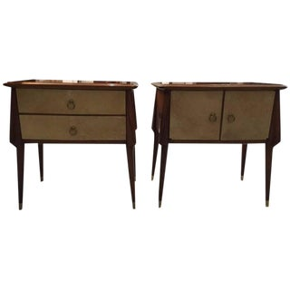Italian Mid-Century Nightstands - A Pair