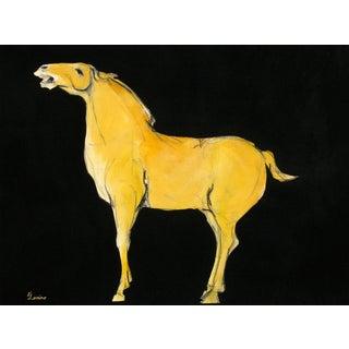 Sienna Tang Horse 16 x 20 Painting by Heidi Lanino