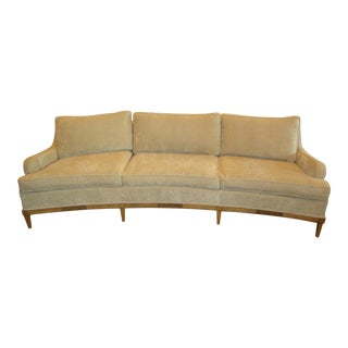 Vintage Mid-Century Curved Sofa