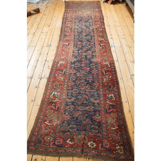 "Antique Kurdish Bidjar Rug Runner - 3'7"" X 13'10"" - Image 4 of 7"