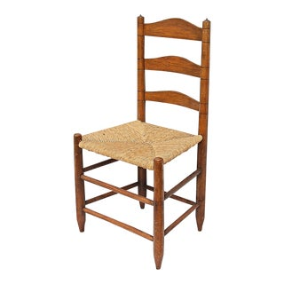 Early American Ladder Back Side Chair