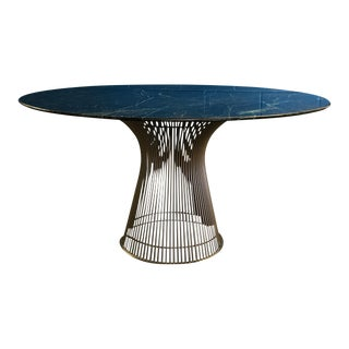 Warren Platner for Knoll Green Marble Dining Table