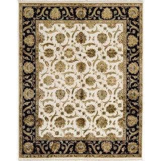 "Traditional Wool & Silk Hand Woven Rug - 8' x 10'1"""