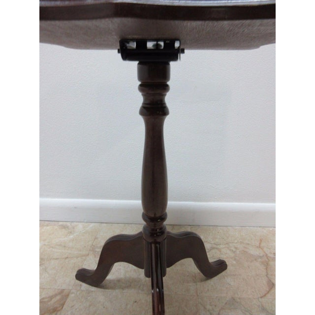 Bombay Company Cherry Lamp End Table Pedestal Stand - Image 6 of 11