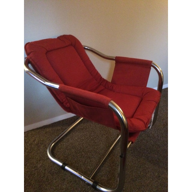 Mid-Century Modern Chrome Chair - Image 2 of 5