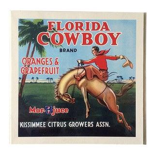 Vintage Citrus Crate Label Art Print