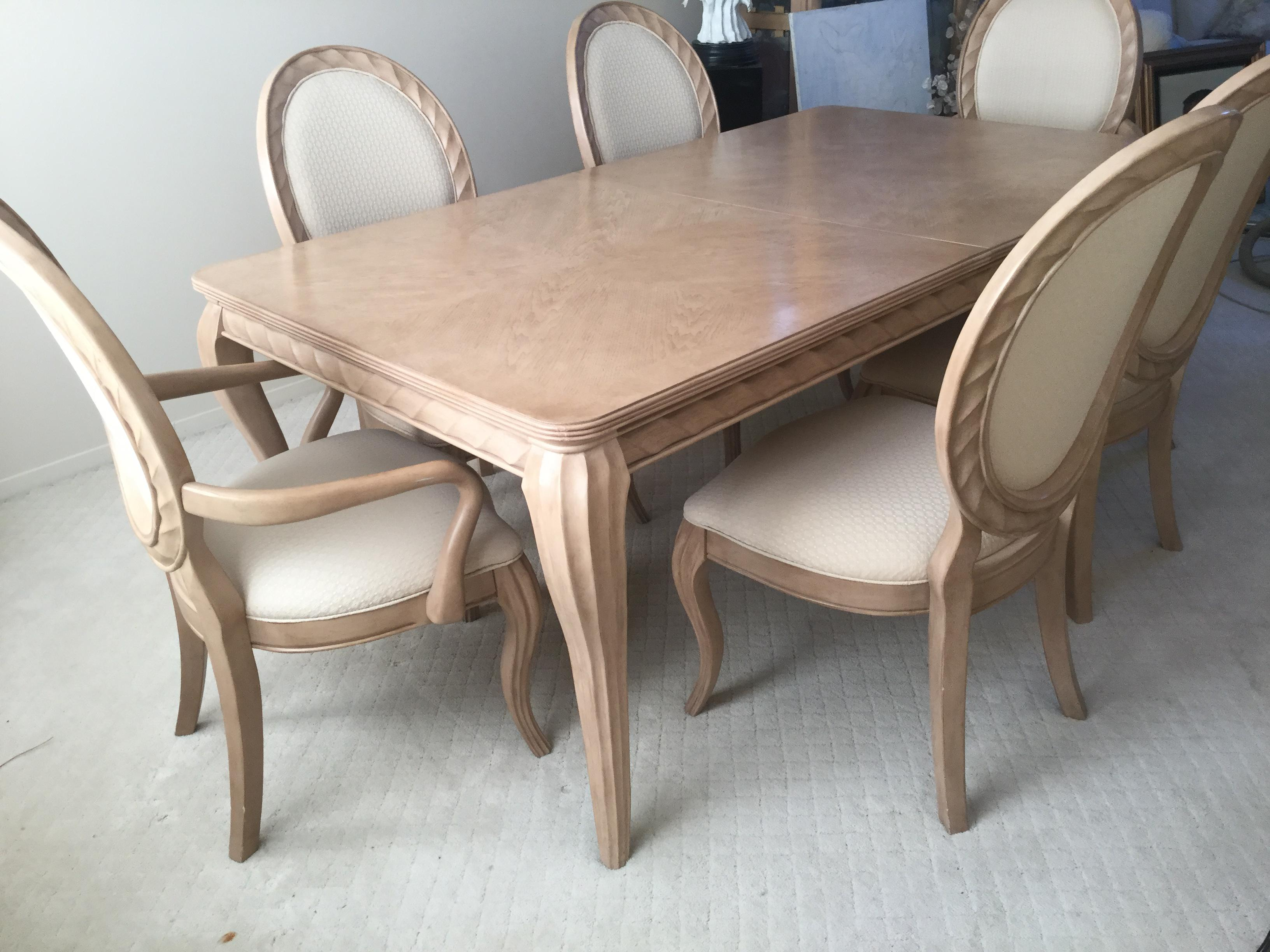 Bernhardt Tuscan Traditional Mediterranean Dining Room Set   Table 6 Chairs    Image 3 Of 10
