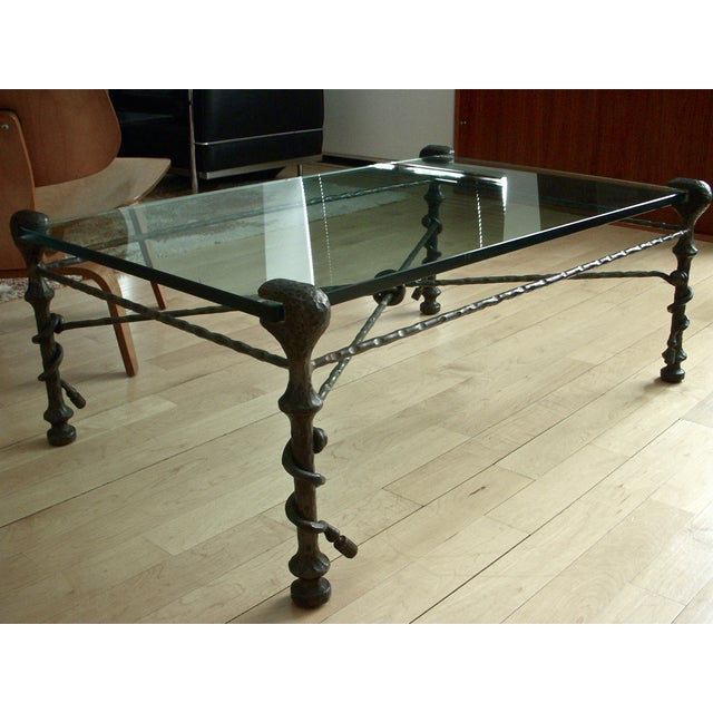 Wrought Iron Glass Coffee Table Chairish