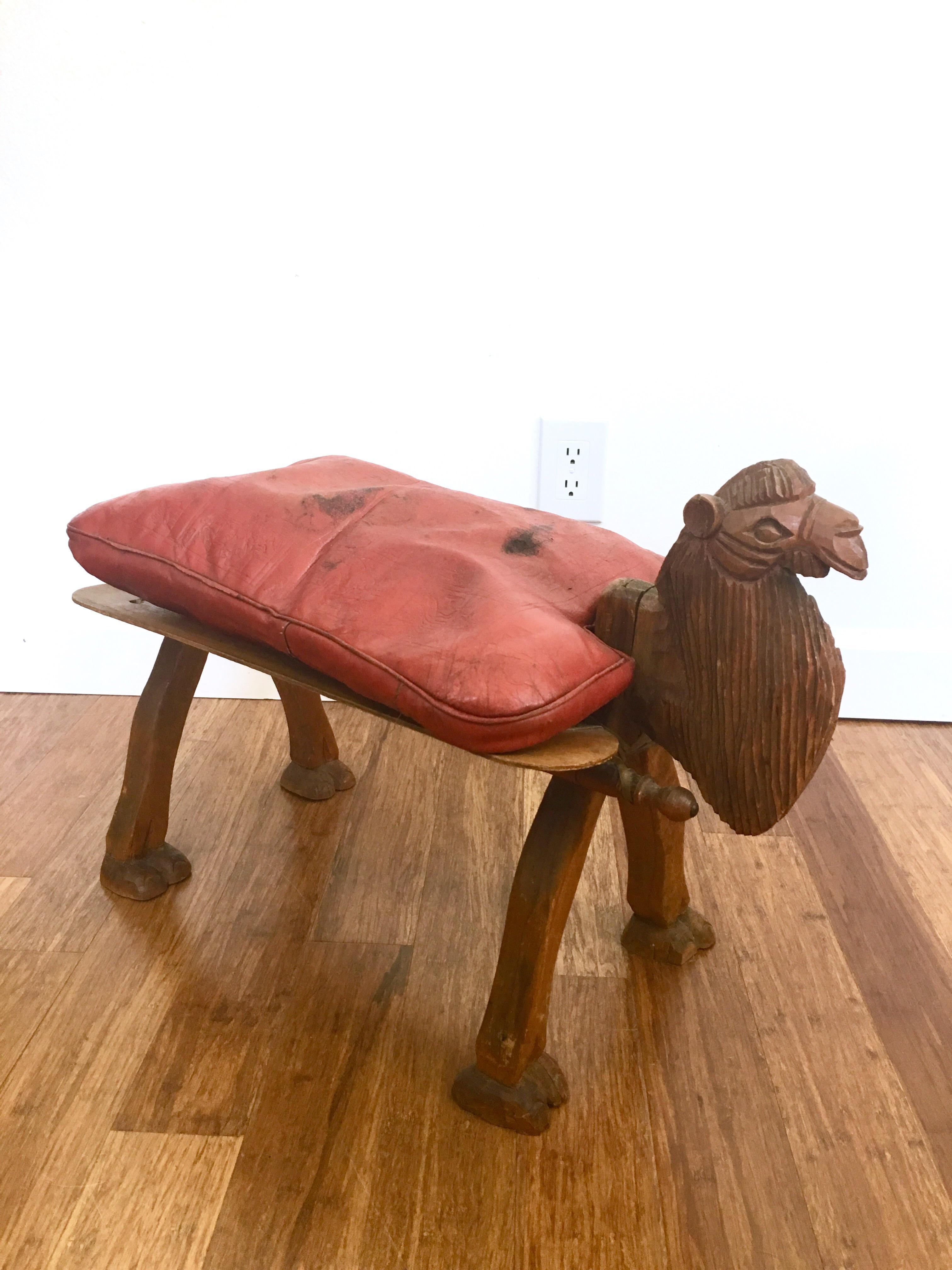 Vintage Camel Saddle Stool Chairish