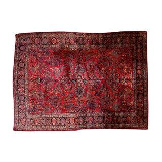 """Vintage American Sarouk Carpet - 8'10"""" x 11'10"""""""